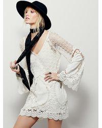 Free People - White Nikki Amore Dress - Lyst