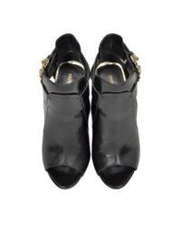 Roberto Cavalli - Serpent Black Leather Sandal - Lyst