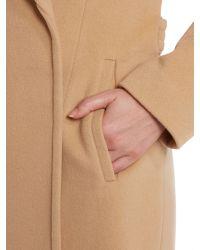 Cloud Nine | Natural Long Wrap Coat | Lyst