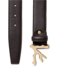 Isaia - Brown Coral Frame Leather Belt for Men - Lyst
