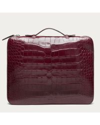 Bally Red Norge Medium Men ́s Cherry Alligator Document Case for men