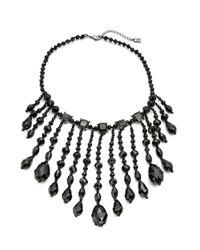 Lauren by Ralph Lauren | Black Graduated Stone Necklace | Lyst