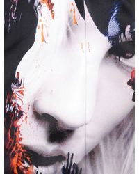 MSGM - Multicolor Oversized Printed Techno Duchess Coat - Lyst
