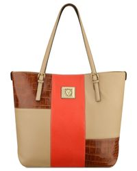 Anne Klein | Red Perfect Tote Large Colorblock Tote | Lyst