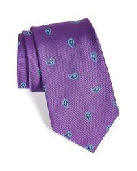 Ike Behar | Purple Paisley Woven Silk Tie for Men | Lyst