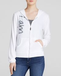 Peace Love World - White Hoodie - Comfy Zip Up - Lyst