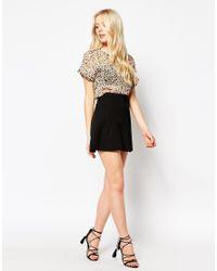 Vila - Multicolor Leopard Print Shirt - Lyst