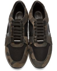 Burberry - Blue Navy And Black Field Sneakers for Men - Lyst