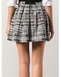 Alice + Olivia Black Tweed Pleated Skirt