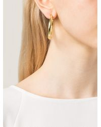Vaubel - Metallic Single Wire Hoop Earrings - Lyst