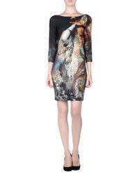 Just Cavalli - Black Short Dress - Lyst