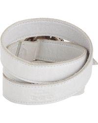 Hoorsenbuhs   White Leather Wrap Bracelet   Lyst