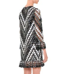 Marco De Vincenzo - Gray Circle-embellished Macrame Dress - Lyst