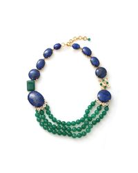 Bounkit | Green Lapis Quartz Necklace | Lyst