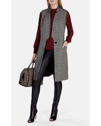 Karen Millen Multicolor Tweed Long Waistcoat