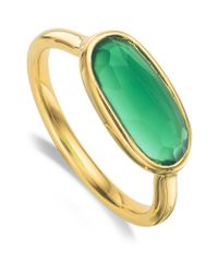 Monica Vinader - Vega Green Onyx Ring - Lyst