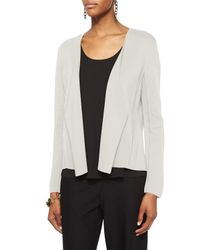 Eileen Fisher | White Angled Silk and Cotton Jacket  | Lyst