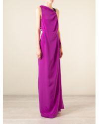 Roland Mouret - Pink 'goddards' Evening Gown - Lyst