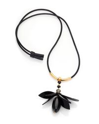 Marni - Black Single Flower Necklace - Lyst