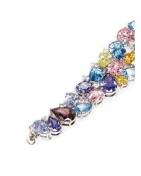CZ by Kenneth Jay Lane | Multicolor Multi Cut Cubic Zirconia Vine Bracelet | Lyst