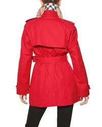 Burberry - Red Mottram Cotton Gabardine Trench Coat - Lyst