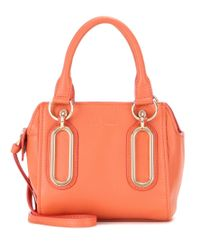See By Chloé Orange Paige Mini Leather Shoulder Bag