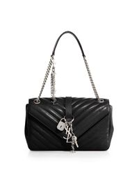Saint Laurent - Black Monogram Medium Matelasse Leather Top-handle Bag - Lyst