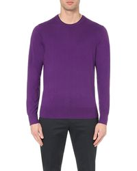 Paul Smith | Purple Knitted Cotton-blend Jumper for Men | Lyst