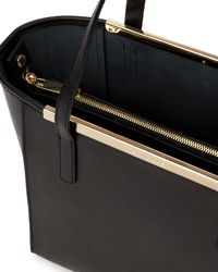 Ted Baker | Black Josie Crosshatch Leather Shopper Bag | Lyst