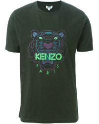 KENZO | Green 'tiger' T-shirt for Men | Lyst