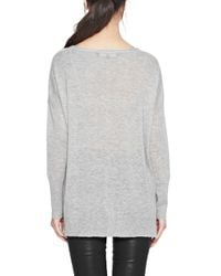 French Connection Gray Feather Light Fine-knit Jumper