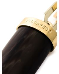 DSquared² Metallic Tusk Pendant Necklace