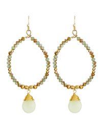 Nakamol - Crystal Bead Teardrop Earrings Blue Green Brown - Lyst