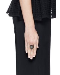 Iosselliani - Black Zircon Stacked Ring - Lyst