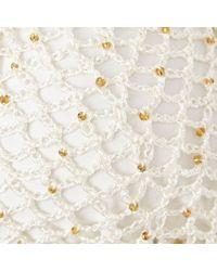 River Island White Cream Pacha Crochet Bikini Top