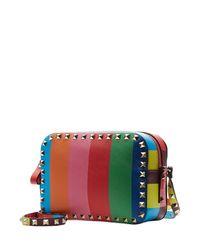 Valentino - Multicolor Rockstud 1973 Leather Camera Bag - Lyst