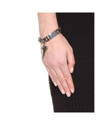 Givenchy Metallic Shark Tooth Chain-link Bracelet
