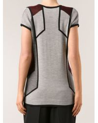 Peter Pilotto - Gray Low V Top - Lyst