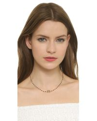 Ela Rae - Libi Necklace - Black/Grey Moonstone - Lyst