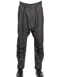 Vivienne Westwood Gray 19Cm Windowpane Wool Trousers for men