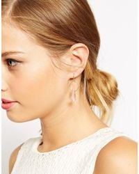 ASOS | Metallic Mini Quartz Drop Earrings | Lyst