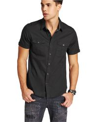 Guess | Black Diego Sportshirt for Men | Lyst