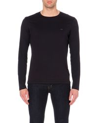 Michael Kors - Long-sleeved Cotton-jersey T-shirt, Men's, Size: Xxl, Black for Men - Lyst