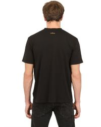 Stone Island Black Cotton Jersey Printed Logo T-shirt for men
