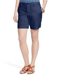 Lauren by Ralph Lauren | Blue Stretch-cotton Shorts | Lyst