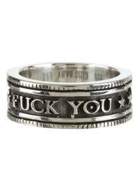 King Baby Studio - Metallic F*** You Vintage Coin Ring for Men - Lyst