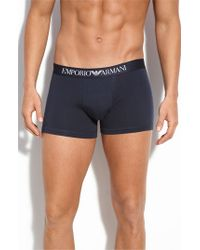 Emporio Armani | White Stretch Cotton Boxer Briefs for Men | Lyst