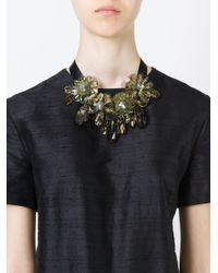 P.A.R.O.S.H. | Green Flower Ribbon Necklace | Lyst