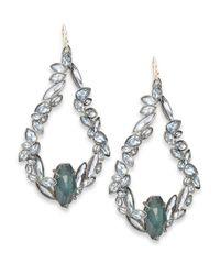 Alexis Bittar - Metallic Miss Havisham Liquid Crystal Sapphire & Pyrite Doublet Teardrop Earrings - Lyst