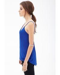 Forever 21 - Blue Chiffon Surplice Cami - Lyst